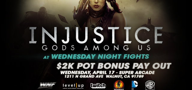 WB Games and Twitch Presents Injustice at Weds Night Fights! In celebration of the highly anticipated title, WB Games and Twitch are supporting a special tournament at Weds Night Fights....