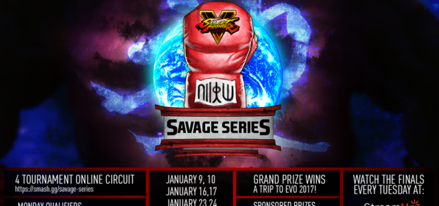 Stream.me partners with Level Up to produce Savage Series, our first online tournament circuit in 2017 featuring Street Fighter V Season 2. Savage Series will consist of 4 online […]